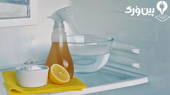تمیز کردن داخل یخچال با سرکه و جوش شیرین