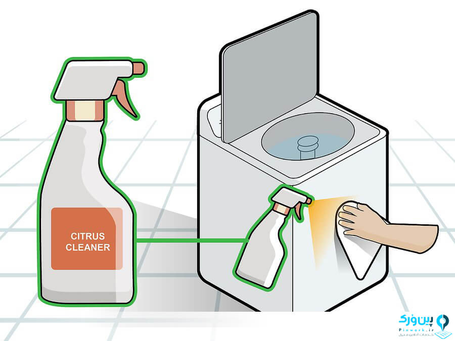 تمیز کردن بدنه ماشین لباسشویی
