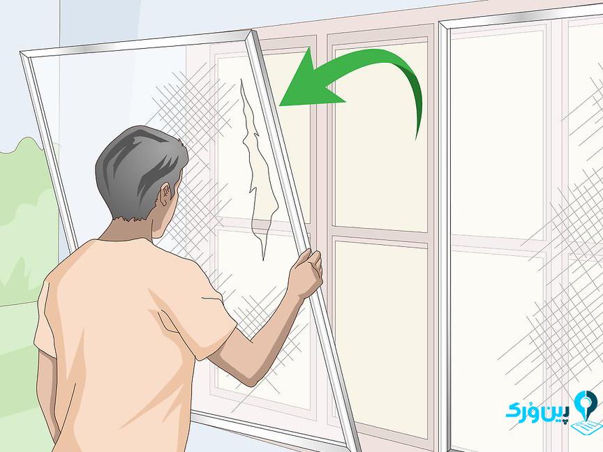 خارج کردن قاب پنجره