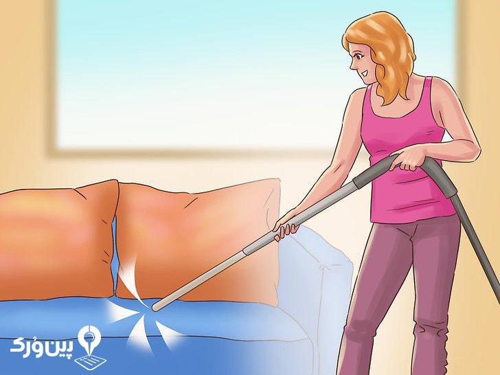 تمیز کردن مبل با جاروبرقی