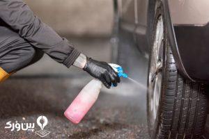 اسپری تمیز کننده تایر ماشین