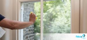 تمیز کردن پنجره با اسفنج