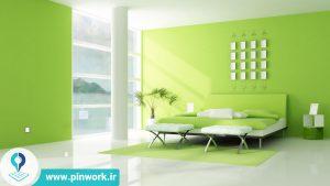 رنگ کردن دیوار اتاق خواب