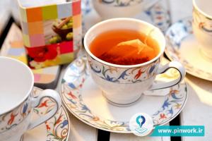 فشردن چای کیسهای