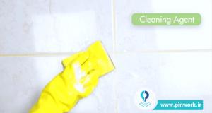 برق انداختن و تمیز کردن کاشیهای سرویس بهداشتی