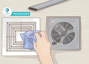 نظافت هواکش سرویس بهداشتی