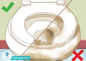 نحوه استفاده از روکش توالت فرنگی
