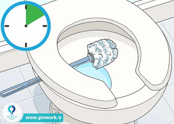 تمیز کردن فرچه سرویس بهداشتی